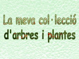La meva col·lecció d'arbres i plantes