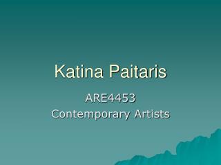 Katina Paitaris