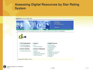 Assessing Digital Resources by Star Rating System