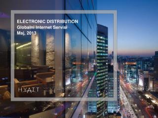 ELECTRONIC DISTRIBUTION Globalni  Internet  Servisi Maj , 2013