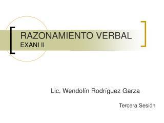 RAZONAMIENTO VERBAL EXANI II