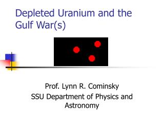 Depleted Uranium and the Gulf Wars