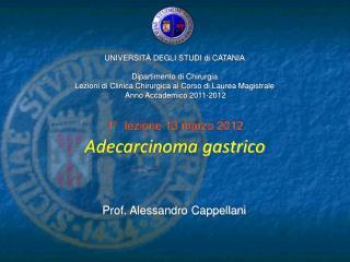 Adecarcinoma gastrico