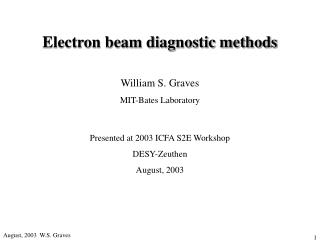 Electron beam diagnostic methods