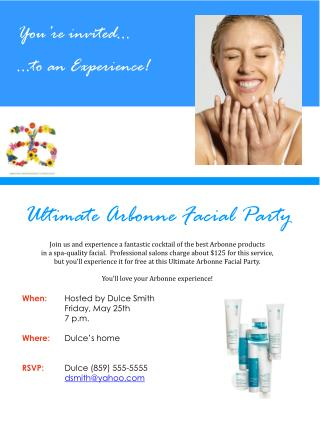Ultimate Arbonne Facial Party