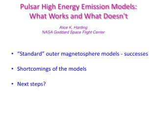 Pulsar High Energy Emission Models:  What Works and What Doesn't