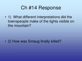 Ch #14 Response