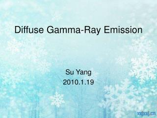 Diffuse Gamma-Ray Emission