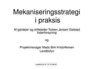 Mekaniseringsstrategi  i praksis