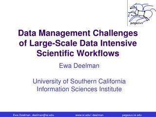 Data Management Challenges of Large-Scale Data Intensive Scientific Workflows