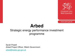 Arbed Strategic energy performance investment programme