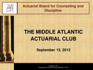 Actuarial Board for Counseling and Discipline