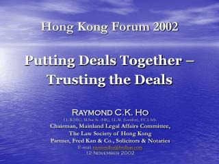 Hong Kong Forum 2002