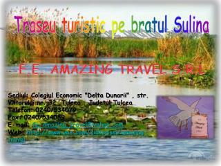 Traseu turistic pe bratul Sulina