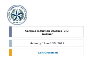 Campus Induction Coaches (CIC) Webinar