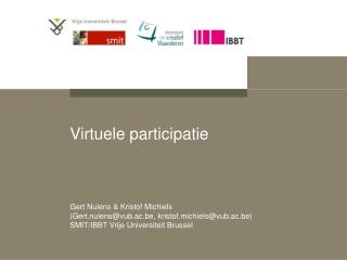 Virtuele participatie
