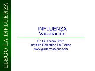 INFLUENZA Vacunaci�n
