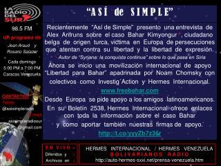 HERMES   INTERNACIONAL   /  HERMES   VENEZUELA B O L I V A R I A N O S    R A D I O
