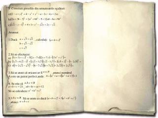 5. Corectati greselile din urmatoarele egalitati : a) b) c) Avansat :