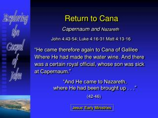Return to Cana