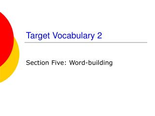 Target Vocabulary 2