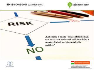 ED-13-1-2013-0001  számú projekt