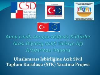Anna Lindh  Avrupa - Akdeniz Kültürler Arası Diyalog Vakfı Türkiye Ağı Araştırması Raporu