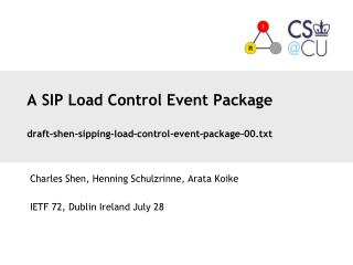 A SIP Load Control Event Package draft-shen-sipping-load-control-event-package-00.txt