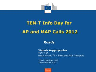 TEN-T Info Day for           AP and MAP Calls 2012
