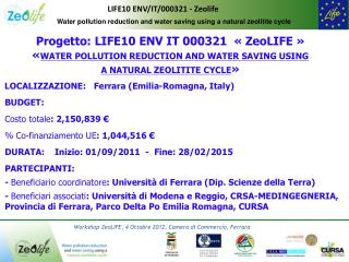 Water pollution reduction and water saving using a natural zeolitite cycle