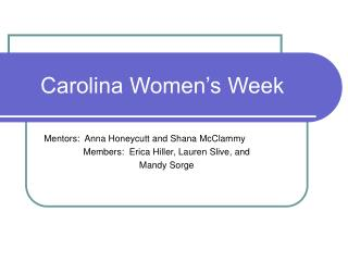 Carolina Women's Week