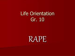 Life Orientation Gr. 10