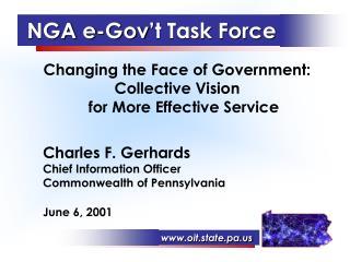 NGA e-Gov't Task Force