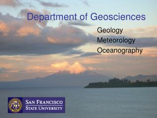 Department of Geosciences