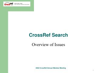 CrossRef Search
