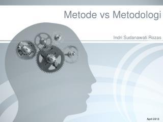 Metode vs Metodologi