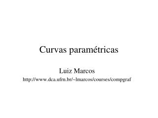 Curvas param�tricas