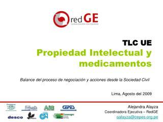 TLC UE Propiedad Intelectual y medicamentos