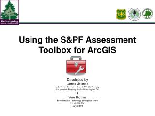 Using the S&PF Assessment Toolbox for ArcGIS