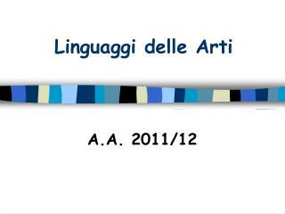 Linguaggi delle Arti