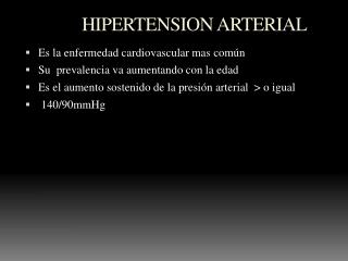 HIPERTENSION ARTERIAL