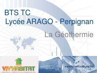 BTS TC  Lycée ARAGO - Perpignan La Géothermie