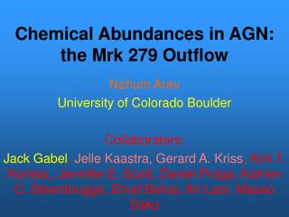 Chemical Abundances in AGN:   the Mrk 279 Outflow