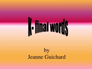 by Jeanne Guichard