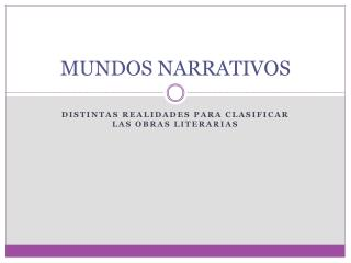 MUNDOS NARRATIVOS