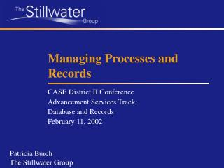 Managing Processes and Records