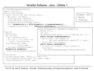 Verteilte Software  -  Java - Utilities  1