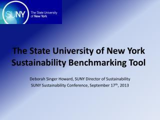 The State  University of New York Sustainability Benchmarking Tool