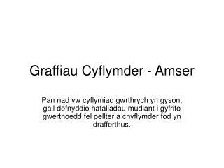 Graffiau Cyflymder - Amser