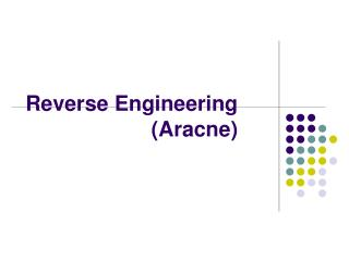Reverse Engineering (Aracne)
